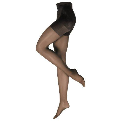 Nur Die Damen Strumpfhose figurunterstützend 719171/Bauch-Beine-Po, Gr. 48 (44-48/L), schwarz (schwarz 094)