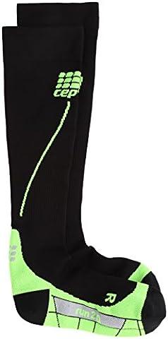 cep Run 2.0 Socks Men black/green Schuhgröße III | 32-38cm 2017 Laufsocken