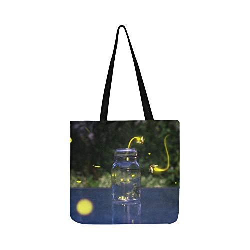 Viele Fireflies Fliegen in den Vorderteilen Canvas Tote Handtasche Schultertasche Crossbody Taschen Geldbörsen für Männer und Frauen Einkaufstasche -