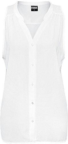Urban Classics Ladies Sleeveless Chiffon Blouse Camicetta bianco XL