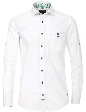 CasaModa - Herren Freizeit Hemd langarm weiss struktur