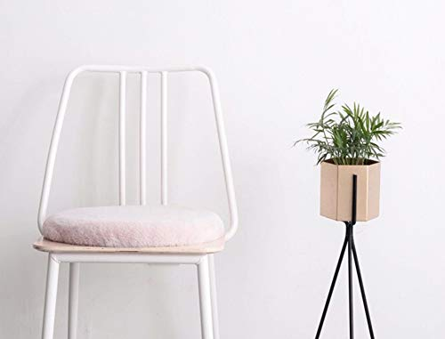 Cuscini rotondi in peluche con lacci, per sedie da pranzo, cucina, per interni ed esterni beige