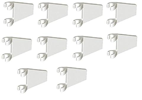 LEGO City - 10 weisse Flaggen Fahnen in Trapezform mit 2x2 Noppen