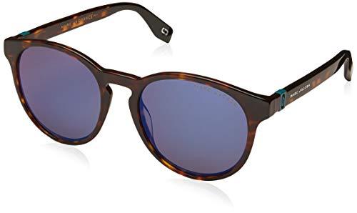Marc Jacobs Sonnenbrillen (MARC-351-S 086XT) dunkel havana - grau-braun mit blau verspiegelt effekt