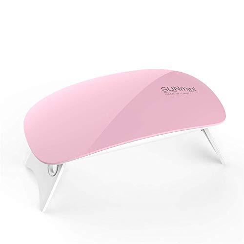 UV-Nagel Lampe, SUN Mini2 6W LED-Nagel Lampe Für Gel-Politur Mit 2 Timing-Einstellung (45S/60S) (Pink)