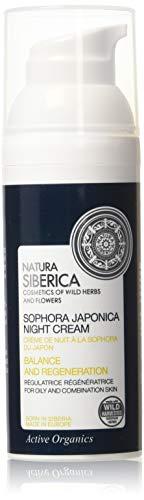 Natura Siberica–Nacht-Creme für Fettige Haut oder Mischhaut