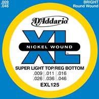 Muta Corde D'ADDARIO EXL125 per chitarra elettrica
