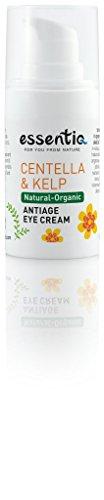 ESSENTIQ - 100% Natürliche Anti-Aging-Augencreme mit Hyaluronsäure I vegan I tiefenwirksame Anti-Falten Augencreme I reichhaltig I Augenpflege I als Make-Up-Basis geeignet I für alle Hauttypen - 15 ml