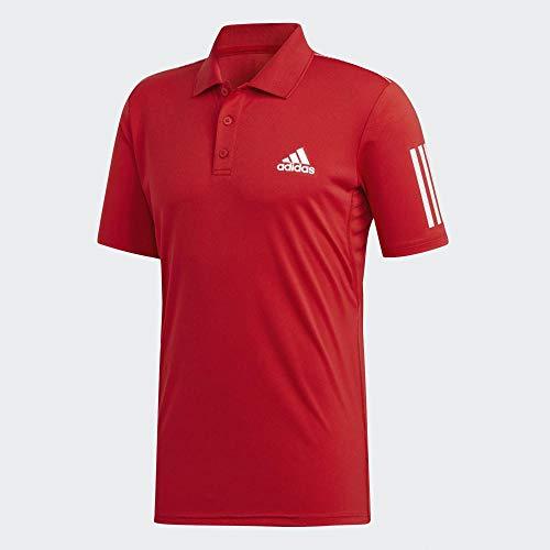 adidas Herren Club 3Str Polo, Escarl, - Tennis Adidas Polo 3str