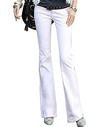 3b75de660f6bc Jeans De Femmes Flare Mode Taille Haute Slim Fit breal Stretch Casual Pantalon  Bouton avec Poches
