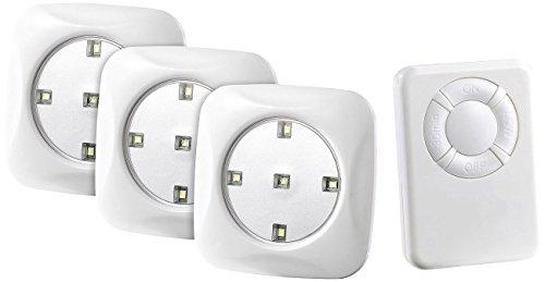 Lunartec Schrankleuchte: LED-Unterbauleuchte FlexiLight mit Fernbedienung, 3er-Set, erweiterbar (Küchenbeleuchtung)