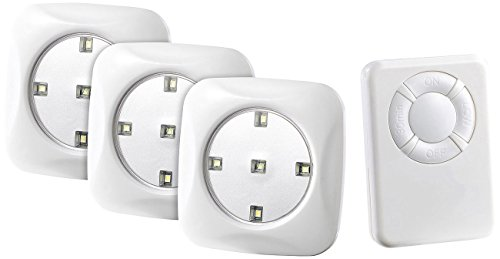 Batterie-leuchten (Lunartec LED Batterie Leuchten: LED-Unterbauleuchte FlexiLight mit Fernbedienung, 3er-Set, erweiterbar (LED Spot Batterie))