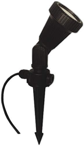 C-Light / 2,3 W - 230 V LED Bodenstrahler Wegleuchte mit Erdspieß + Schuko Netzstecker / IP54 - Gu10 LED 48 SMD warmweiss / 140 Lumen