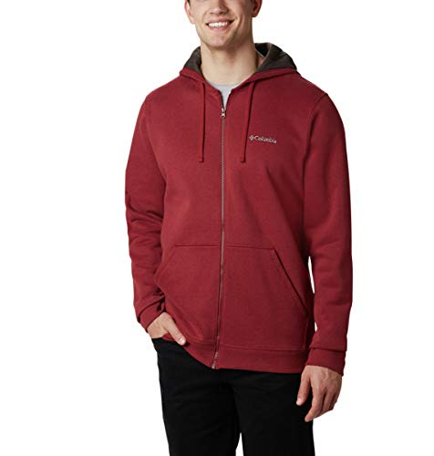 Columbia Herren Hart Mountain Full Zip Sweatshirt, Red Jasper Multi, Klein Columbia Full Zip Sweater