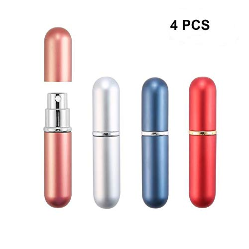 AOLVO - Fragrance bottles for perfume, cleaning products, aromatherapy, plants for dessert or kitchen, reliable sprayer with mood and transmission settings (4 units)