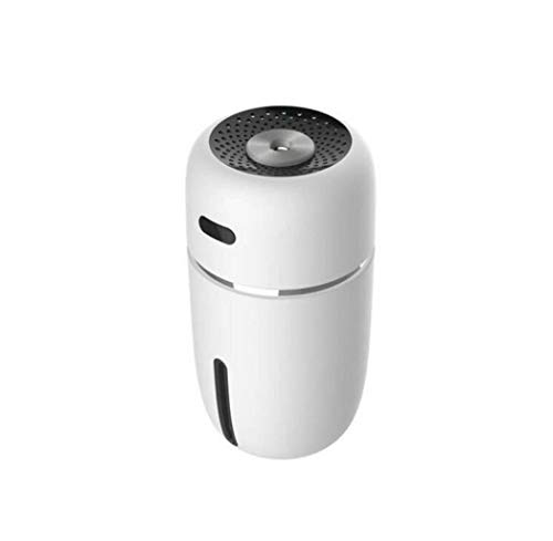 GKKXUE Mini humidificateur USB purificateur d'air Petit humidificateur Bureau diffuseur d'air 4 Couleurs Cadeau Voiture optionnel (Couleur : Blanc, Taille : One Size)