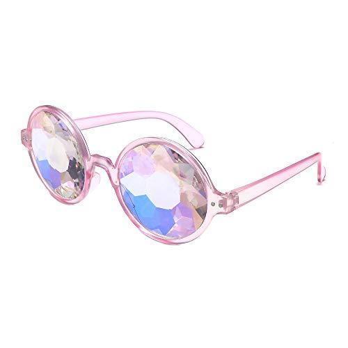UFODB Sonnenbrille Damen Rund Gotisch Steampunk Woman Sunglasses Retro Vintage Polarisiert Mit...
