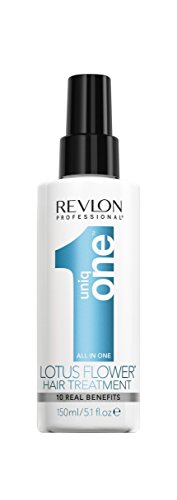 Revlon Professional Uniq One LOTUS Hair Treatment Leave-In Conditioner mit Hitzeschutz inspiriert vom Duft der Lotus Blume, 150 ml