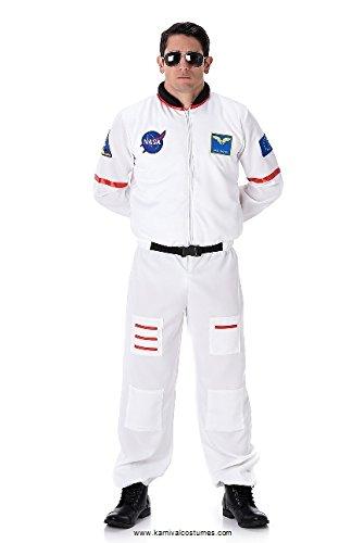 Karnival 82089Male Kostüm Astronaut, Herren, Weiß, extra ()