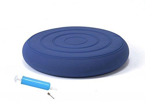 bonsport Sitzkissen ohne Noppen inkl. Pumpe 33 cm blau / Luftkissen in Premium Qualität / Balancekissen für Fitness, Reha oder Physio