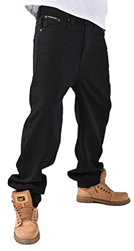 Chomay Herren Baggy Jeans Hose Hip-Hop Stil loose fit Tanzhose Clubwear Freemove W36