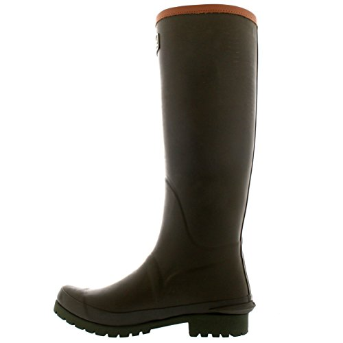 Damen Barbour Blyth Gummi Winter Wasserdicht Regen Gummistiefel Stiefel EU 36-43 Olive