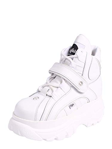 Buffalo Patch (Buffalo London Damen, Unisex Sneaker high weiß 42)
