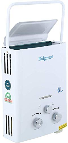 Iglobalbuy 6L Durchlauferhitzer LPG Propangas Warmwasserbereiter Boiler tragbar Warmwasserspeicher 12KW -