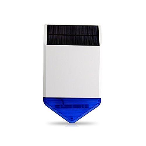 SZABTO Drahtlose Alarm Sirene für Alarmanlage mit Telefon-Modul Und GSM-Modul Stützen Sie beide Energieversorgung und Solarstrom
