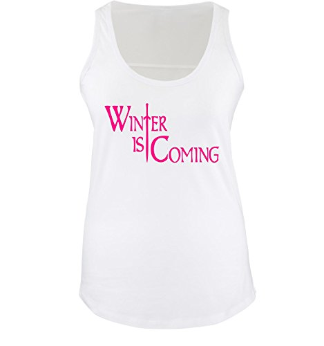 WINTER IS COMING - donne Canotta da donna taglia S a XL shirtinstyle Weiss / Pink