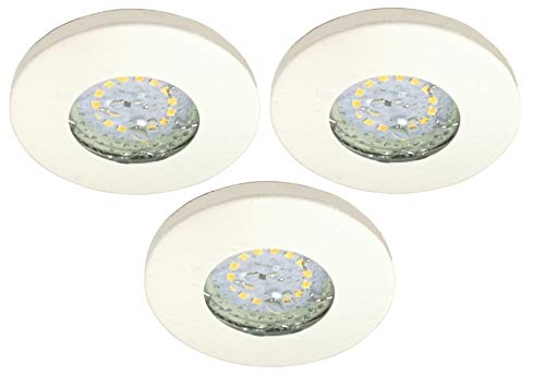 Trango Conjunto de 3 IP44 Foco empotrable LED empotrado I iluminación empotrada...