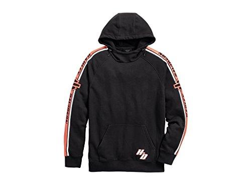 HARLEY-DAVIDSON Sleeve Stripe Pullover Hoodie Sweatshirt, 96135-18VM, S -