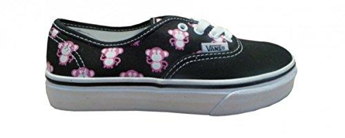 Vans Skateboard Schuhe Authentik Black/Aurora Pink Multi Monkey, Schuhgrösse:32