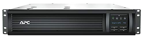 APC Smart-UPS SMT-SmartConnect - SMT750RMI2UC - Unterbrechungsfreie Stromversorgung 750VA (Rackeinbau 2U, Cloud-monitoring fähig, 4 Ausgänge IEC-C13)