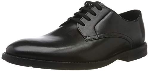 Clarks Herren Ronnie Walk Derbys , Schwarz (Black Leather), 40 EU