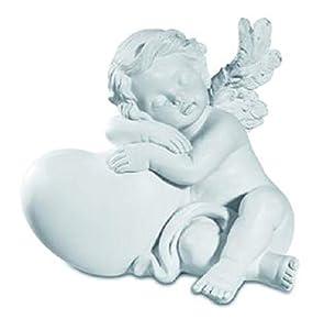 KATERINA PRESTIGE - Figura Decorativa de ángel dormirmi sobre corazón B, BROHF1506B