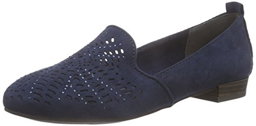 Marco Tozzi 24202 Damen Slipper Blau (NAVY 805)
