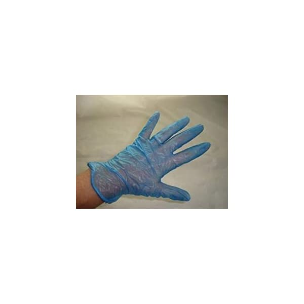 100 x Vinyl Disposable Gloves, MEDIUM NON-Powdered Blue (free P&P on all products) 319nh 2BvRjyL