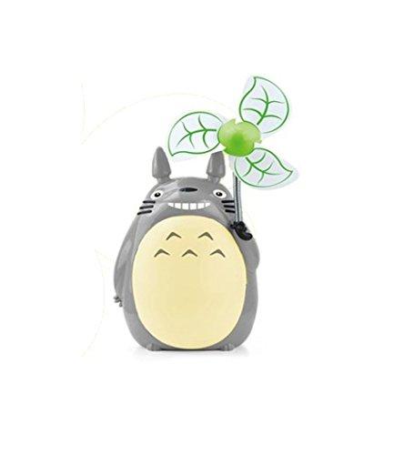 Totoro Desktop-Fan Kreative Led-Nacht USB wiederaufladbare Desktop-Fan (Warm Light) Usb Wiederaufladbare Fan