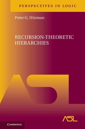 Recursion-Theoretic Hierarchies (Perspectives in Logic)
