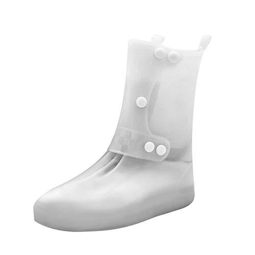 TwoCC-Regenstiefel für Damen, lange Schlauch-Regenschutzhüllen für Herren und Damen im Freien, praktisch zum Tragen von rutschfesten und abriebfesten Bergschuhen, M