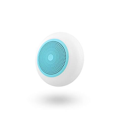 T'nB Altavoz Azul con Bluetooth y Lector de Tarjetas Micro SD Integrado - Compatible con Todos los Dispositivos Electrónicos. Retroiluminación LED.