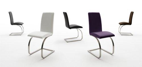 123-mauiEP 2-er-Set Stuhl, Esszimmerstuhl, Schwinger, Freischwinger, Schwingstuhl, schwarz, weiss, braun, grau violett (violett) -