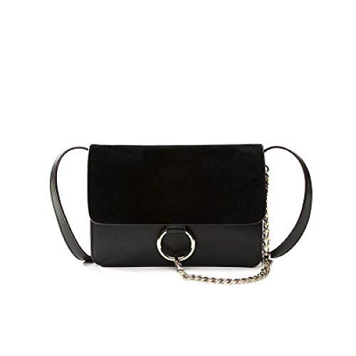 Fyyzg koreanische Version der neuen Damen Tasche Mode hohe Runde mit dem gleichen Absatz Umhängetasche mehrschichtig klein - schwarz