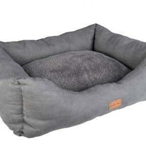 Sofa Basic Line Wouapy 55 cm Gris en suédine et pilou pour chien et chat. Lire le descriptif pour les dimensions précises.