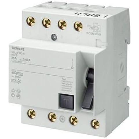 Siemens–Interruttore differenziale tipo AC 40A 4poli IFN 30mA 400V 4ª