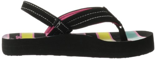 Reef Little Ahi, Tongs fille Noir (Black/Multi/Str)