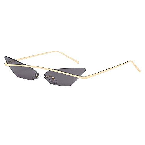 LIGEsayTOY Damen Herren Mode Vintage Unregelmäßige Form Sonnenbrille Eyewear Retro Unisex Sunglasses Polarisierte Laufen Angeln Rosa Braun Etui Coole Neon Star Breite Lens Fancy