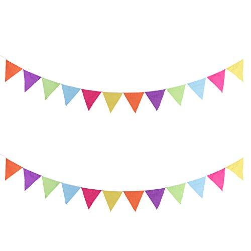 Sharplace 2 Piezas Banner Colgante Bandera de Fieltro Adornos de Fiesta de Halloween Hogar - A