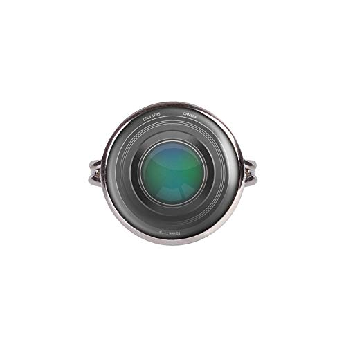 Mylery Ring mit Motiv Objektiv Digital-Kamera DSLR Linse silber 16mm Canon Reflex Lens